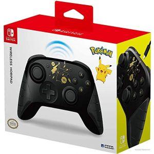 Manette Sans Sil Horipad Pikachu Black & Gold Switch
