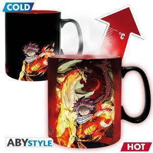 Fairy Tail Mug Heat Change 460ml Natsu & Lucy