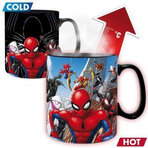 Marvel Mug Heat Change 460ml Multiverse Spider-man