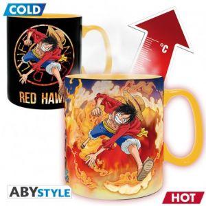 One Piece Mug Heat Change 460ml Luffy & Sabo