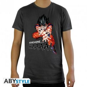 Dragon Ball T Shirt Dbz/kamehameha Homme Mc Dark Grey New Fit  M